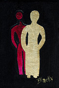 Shadow Art Painting Originals - Never Alone by Donna Blackhall
