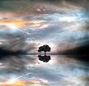 Wolken Metal Prints - Never Alone Metal Print by Photodream Art