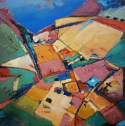 Abstracted Landscape Paintings - Never Been Here Before by Gary Coleman