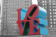 Love Park Photos - Never Black or White by David Rucker