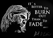 Kurt Cobain Digital Art - Never Fade away by Stefan Kuhn