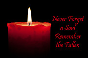 Candlelight Prints - Never Forget a Soul Remember the Fallen Print by Semmick Photo