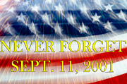 September 11 Wtc Digital Art Posters - Never Forget Poster by Crystal Wightman
