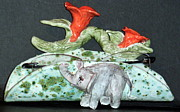 Elephant Ceramics Originals - Never forget where Your glasses Are by Debbie Limoli