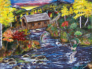 Fishing Creek Prints - Never know what you might find under a bridge Print by Gloria Koch