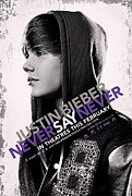 Justin Bieber Art Drawing Prints - Never Say Never 2 Print by Movie Poster Prints