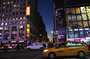 New York Photos Posters - Never Sleeps Poster by Donna Blackhall