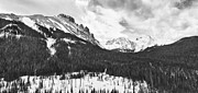 Black And White Mountain Prints Framed Prints - Never Summer Wilderness Area Panorama BW Framed Print by James Bo Insogna