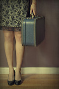 Luggage Prints - Never To Look Back Print by Evelina Kremsdorf
