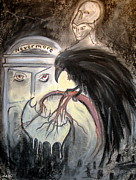 Poe Drawings - Nevermore by Deborah Blount