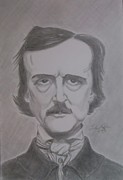 Edgar Drawings Posters - Nevermore Poster by Salvatore Roma