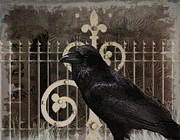 Creepy Digital Art Metal Prints - Nevermore Metal Print by Terry Fleckney
