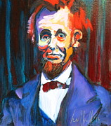 Leaders Painting Originals - New Abe by Les Leffingwell