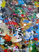 Splats Paintings - New Abstract by Melinda Saminski