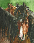 Wild Horses Painting Prints - New Beginnings Print by Linda L Martin