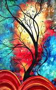Vibrant Paintings - New Beginnings Original Art by MADART by Megan Duncanson
