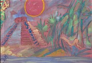 Mayan Paintings - New Birth of Mayan World by Didier MAJOIE
