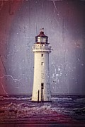 Dee Estuary Posters - New Brighton Lighthouse Poster by Karen Lawrence