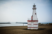 Michigan Prints - New Buffalo City Beach Lighthouse Print by Paul Velgos