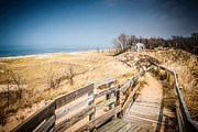 Michigan Art - New Buffalo Michigan Beach and Boardwalk by Paul Velgos
