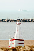 Michigan Art - New Buffalo Michigan Lighthouse by Paul Velgos