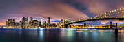 New York City Skyline Originals - New Dawn over New York by Mihai Andritoiu