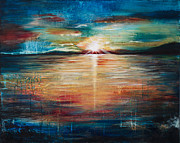 Sunrise Over Water Paintings - New Day by Amani Hanson