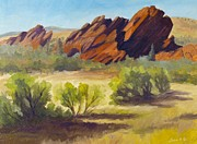 Front Range Painting Prints - New Day Roxborough Park Print by Julia Grundmeier