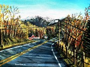 Shana Jackson Paintings - New England Drive by Shana Rowe