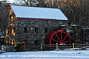 Grist Mill Posters - New England Grist Mill Poster by Mike Martin