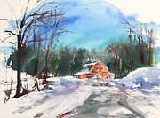 Millbury Paintings - New England Landscape No.217 by Sumiyo Toribe