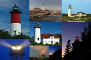 New England Lighthouse Prints - New England Lighthouse Collection Print by Juergen Roth