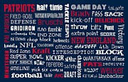 New England. Digital Art Posters - New England Patriots Poster by Jaime Friedman