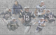 Patriots Posters - New England Patriots Team Poster by Joe Hamilton