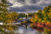 New Hampshire - New England Town in Autumn by Joann Vitali