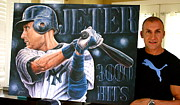 Derek Jeter Paintings - New For Sale 10 Jeter 3000 Hits Limited Edition Canvas Prints Going Fast  Only 4 Left  by Sports Art World Wide John Prince