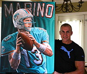 Www.sportsartworldwide.com  Paintings - New For Sale Marino 40 X 30 Inches Limited Edition Canvas Prints 1 Of 13   by Sports Art World Wide John Prince