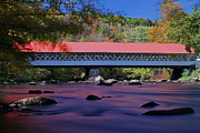 New England Acrylic Prints - New Hampshire Ashuelot Covered Bridge by Juergen Roth