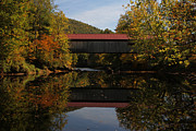 New England Acrylic Prints - New Hampshire Coombs Covered Bridge by Juergen Roth