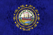 Concord New Hampshire Prints - New Hampshire Flag Print by World Art Prints And Designs