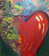 Layer Painting Prints - New Heart Print by James Dames