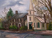 Library Paintings - New Hope and Solebury Free Library by Aurelia Nieves-Callwood