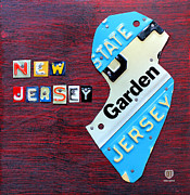 New Car Posters - New Jersey License Plate Map Poster by Design Turnpike