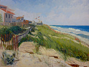 Flags Paintings - New Jersey Shore I by Monica Caballero