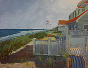 Flags Paintings - New Jersey Shore II by Monica Caballero