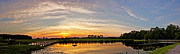 Blueberry Barrens Posters - New Jersey Sunset Panoramic Poster by Gallery Three