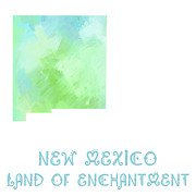 New Mexico Mixed Media - New Mexico - Land of Enchantment - Map - State Phrase - Geology by Andee Photography