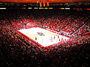 Albuquerque Framed Prints - New Mexico Lobos University Arena Framed Print by Replay Photos