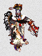 Powwow Posters - New Mexico Native Dancer Poster by Linda  Parker