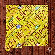 New Mexico State License Plate Map Print by Design Turnpike
